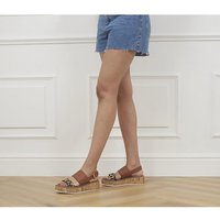 shop for Office Minority Two Part Eva Wedges TAN LEOPARD at Shopo