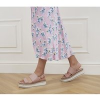 shop for Office Minority Two Part Eva Wedges DUSTY PINK at Shopo