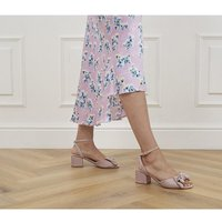 shop for Office Maybe-baby Bow Block Heels PINK at Shopo