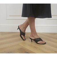 shop for Office Much Wanted Padded Toe Thong Heels BLACK at Shopo