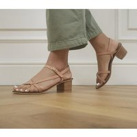 shop for Office Modern Art Casual Block Sandals BLUSH LEATHER at Shopo