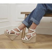 shop for Office Hint Hint Glam Espadrille Wedges WHITE at Shopo