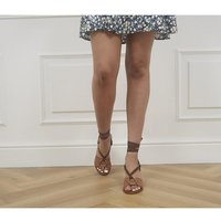 shop for Office Manya Ring Detail Sandals TAN LEATHER at Shopo