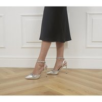 shop for Office Honoured Occasion Point Stilettos SILVER LEATHER at Shopo