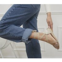 shop for Office Songbird Tie Up Espadrille Sandals NATURAL LEATHER at Shopo