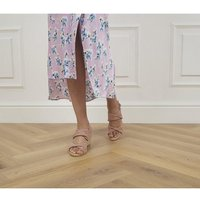 shop for Office Maiori Twist Detail Espradille Wedges NUDE SUEDE at Shopo