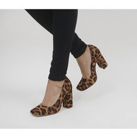 shop for Office Hilo Block Heel Courts LEOPARD at Shopo