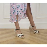shop for Office Halsey Piped Espadrilles NATURAL CANVAS at Shopo