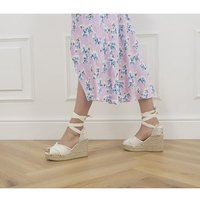 shop for Gaimo for OFFICE Astra Ankle Tie Wedges NATURAL at Shopo