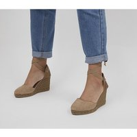 shop for Gaimo for OFFICE Ankle Tie Wedges BEIGE at Shopo
