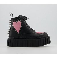 shop for Lamoda Cross Your Heart Chunky Creeper Ankle Boots BLACK at Shopo