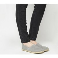 shop for Toms Seasonal Classic Slip On DRIZZLE GREY ROPE SOLE at Shopo