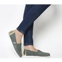 shop for Toms Seasonal Classic Slip On SAGE GREY ROSE GOLD EXCLUSIVE at Shopo