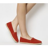 shop for Toms Seasonal Classic Slip On RED SEUDE at Shopo