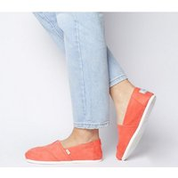 shop for Toms Seasonal Classic Slip On CORAL EXCLUSIVE at Shopo