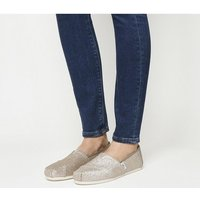 shop for Toms Seasonal Classic Slip On ROSE GOLD GLIMMER at Shopo