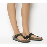 shop for Birkenstock Toe Thong Footbed METALLIC STONES BLACK EXCLUSIVE at Shopo