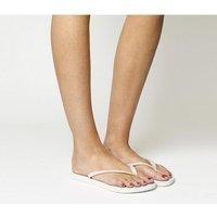 shop for Havaianas Slim Flip Flop WHITE at Shopo