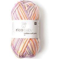 Rico Design Baby Cotton Soft Print dk 50g 125m grau/türkis