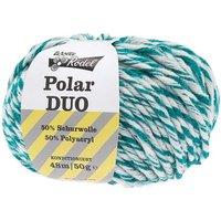 Wolle Rödel Polar Duo 50g 48m weiß/petrol
