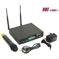 PLL DRAADLOOS 8-KANAALS UHF TRUE DIVERSITY MICROFOONSYSTEEM MET LCD-SCHERM