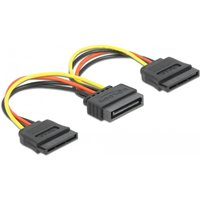 DeLOCK Cable Power SATA 15pin > 2x SATA HDD straight (60105)