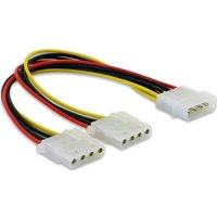 DeLOCK Y-Cable Power > 2x 4pin Molex (82100)
