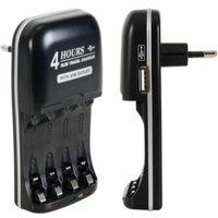 Batterij lader Geschikt voor: AA, LR06, MN1500 en AAA, LR03, MN2400