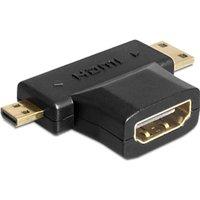 DeLOCK Adapter HDMI-A female > HDMI-C + HDMI-D male (65446)