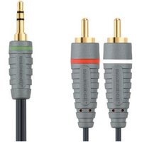 Bandridge BAL3401 verloopkabel 3 5mm jack 2x tulp