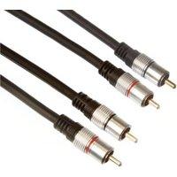 2 X Rca Audio Plug Naar 2 X Rca Audio Plug-Professioneel-1.50m