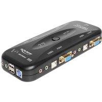 DeLOCK 4 > 1 VGA KVM Switch with USB and Audio (11349)