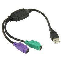 Intronics Valueline USB verloopkabel USB to PS-2l 0,30 meter