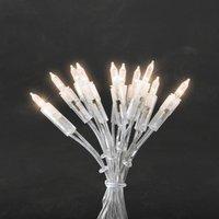 energie A+, LED-mini lichtketting 50 witte dioden transparante kabel voor binnengebruik, Konstsmide