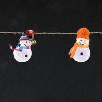 energie A+, LED-lichtketting acryl sneeuwpoppen met bonte mutsen 8 koudwitte dioden voor binnengebru