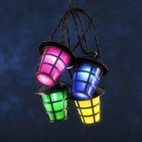 LED feestverlichting met gekleurde lampionnen 14.75 meter 20 lampen