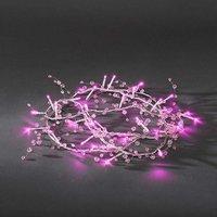 energie A+, LED-lichtketting roze transparante parels 32 roze dioden voor binnengebruik, Konstsmide