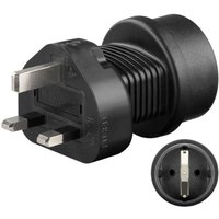Goobay Adapter geaarde stekker op UK-stekker Zwart 95307