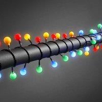 Globe LED lichtsnoer met 80 gekleurde bolletjes middel