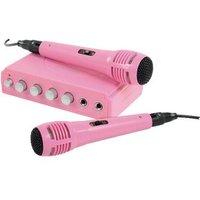 König HAV-KM11P Karaoke Mixer Roze