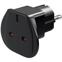 Travel adapter UK to safety plug CEE 7-7 Goobay