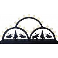 Rijk vormgegeven LED-lichtboog Elk Bow, zwart