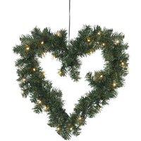 Hartvormige led-kerstkrans OTTAWA, 50 cm