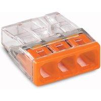 Wago Lasklem 3 polig oranje transparant doos (100 stuks) 2273-203