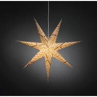 Witte sfeerlamp papieren ster met tekst-opdruk