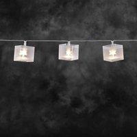 energie A+, LED-lichtketting kunststof dobbelstenen met sterreneffect 10 witte dioden voor binnengeb