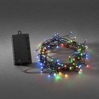 Konstsmide 3729-500 Micro-lichtketting Buiten Werkt op batterijen 120 LED Bont 1250 cm