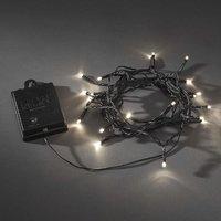 Lichtketting met batterijen Buiten werkt op batterijen LED Warm-wit Konstsmide 3733-100
