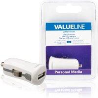 USB-autolader USB A female 12V-autoaansluiting wit 2.1A