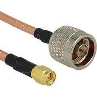 Delock WiFi-antenne Aansluitkabel [1x N-stekker 1x SMA-stekker] 0.40 m Transparant